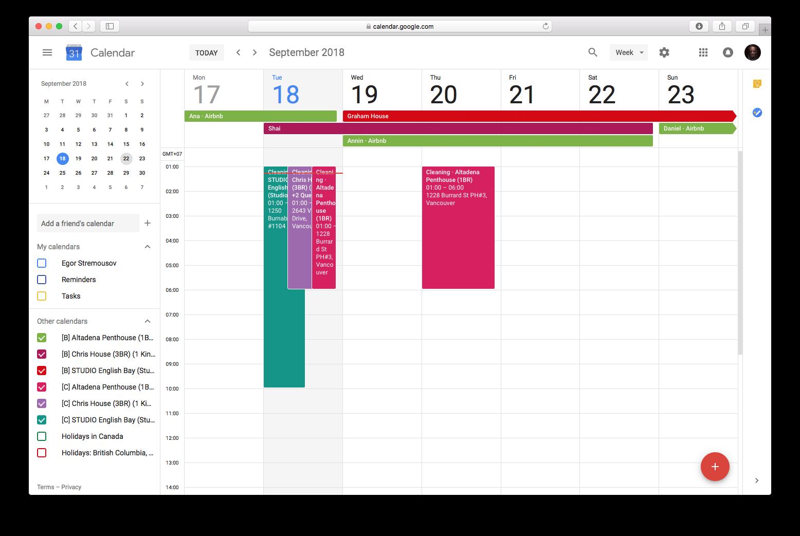 export Airbnb calendar