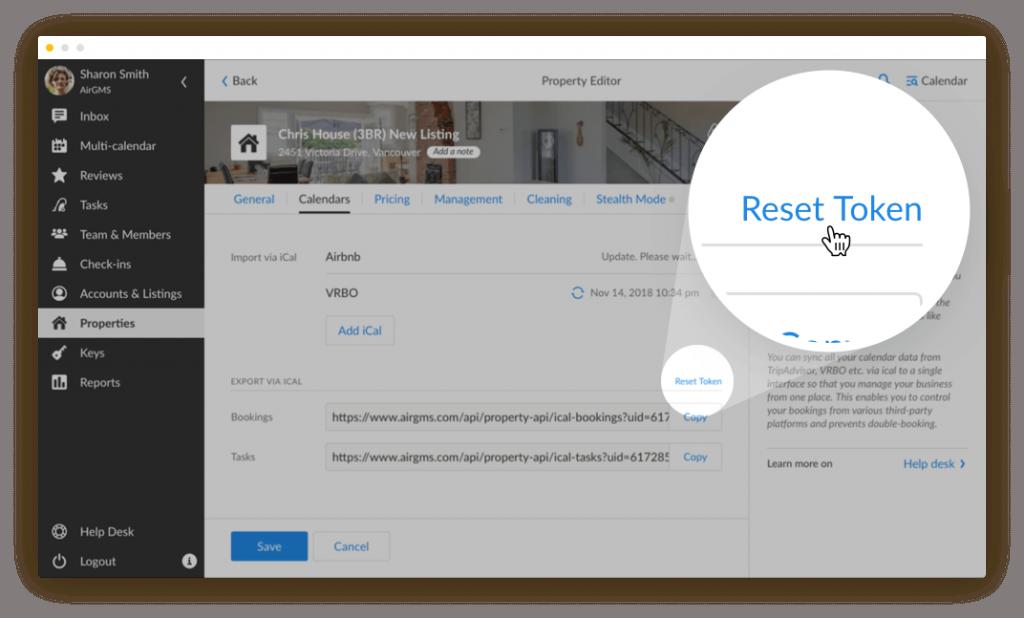 airgms app reset ical