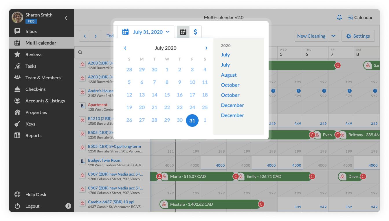 Multi-calendar 2.0 specific date