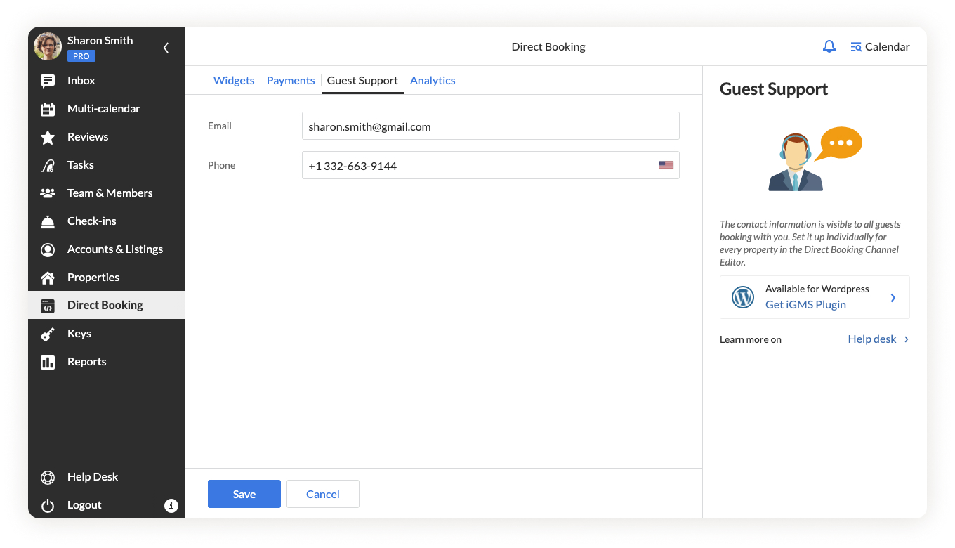 iGMS Direct Booking Widget_Guest Support