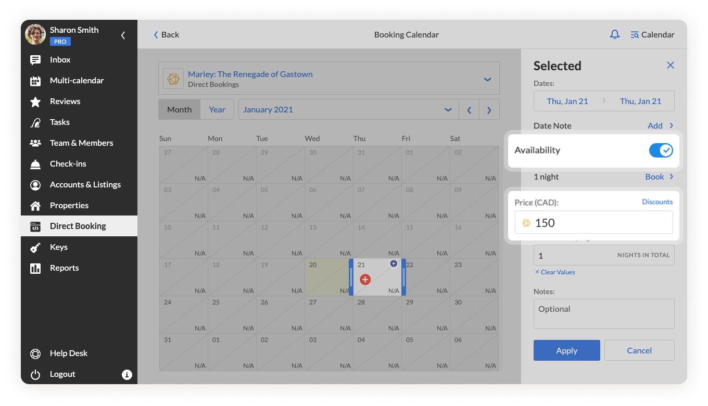 iGMS Direct Booking_Calendar