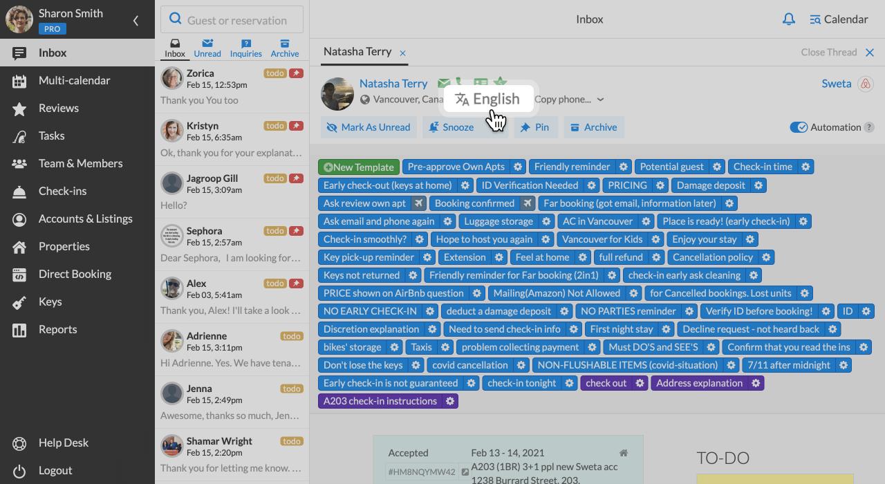 iGMS Inbox Message Templates Proffered Language
