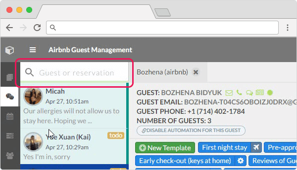 Airbnb Management new features