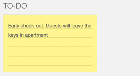 Airbnb management with tasks manager