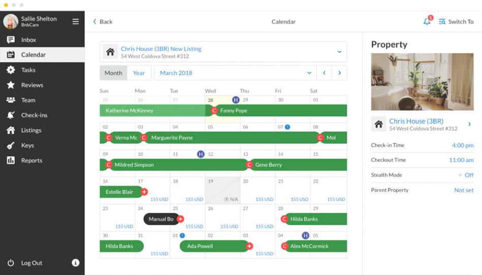 Airbnb Single Calendar feature
