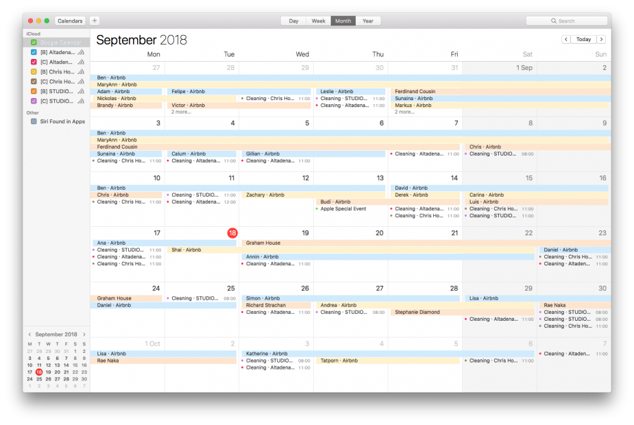 Export calendar to macOS