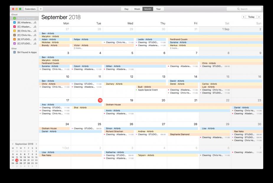Export calendar to macOS