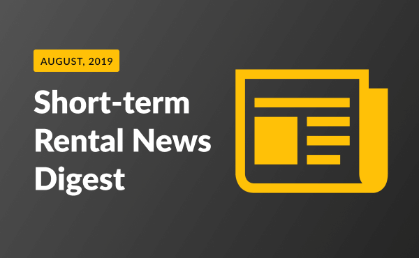 short term rental news August 2019
