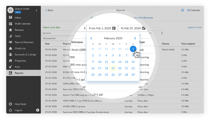 iGMS Tasks calendar
