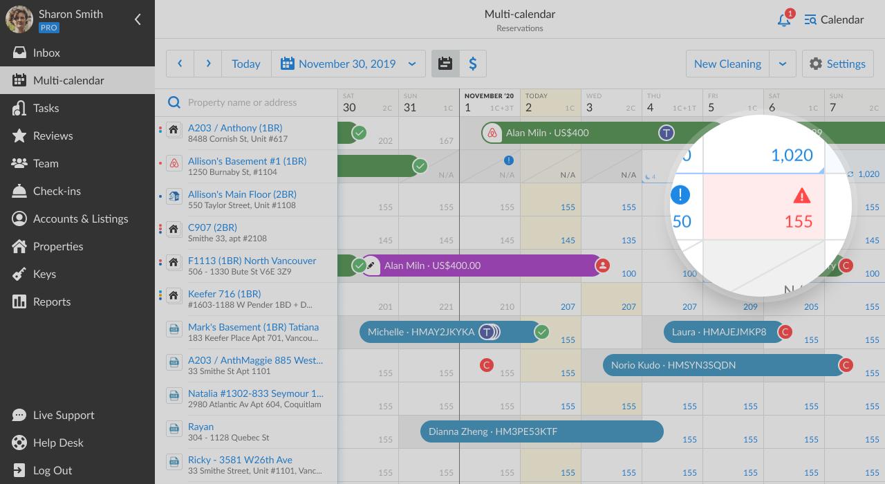 iGMS multi-calendar error notification