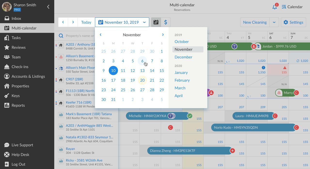 iGMS Multi-calendar date picker
