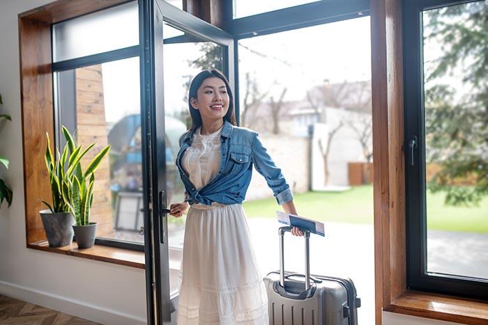 Airbnb lockbox check-in