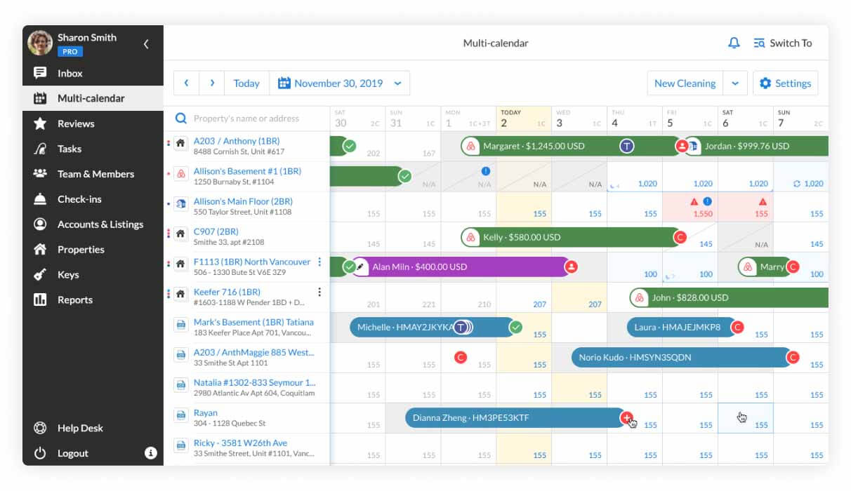 Booking.com integration Multi-calendar