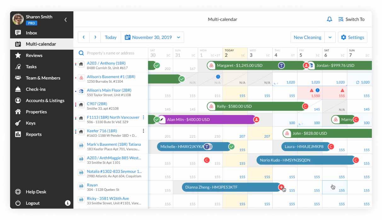 Booking.com integration Multi-calendar