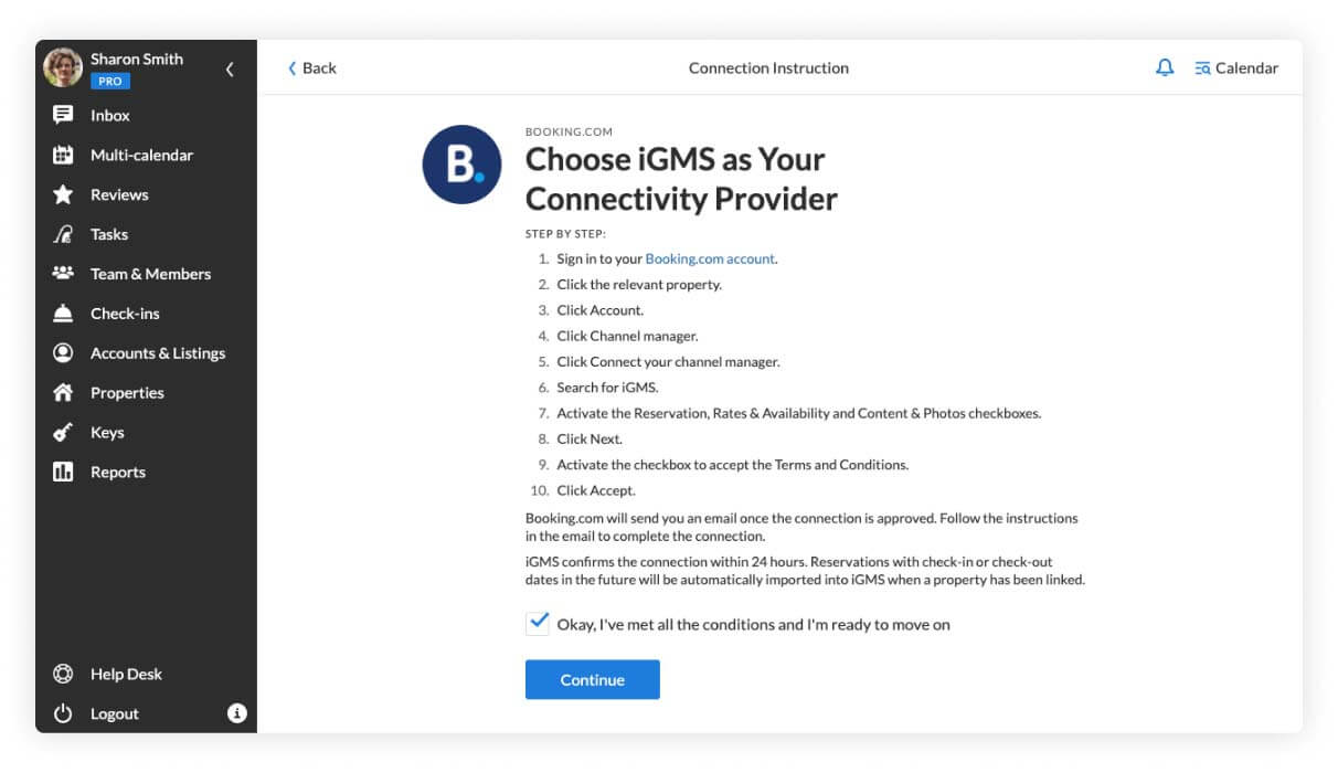 Booking.com connection instruction