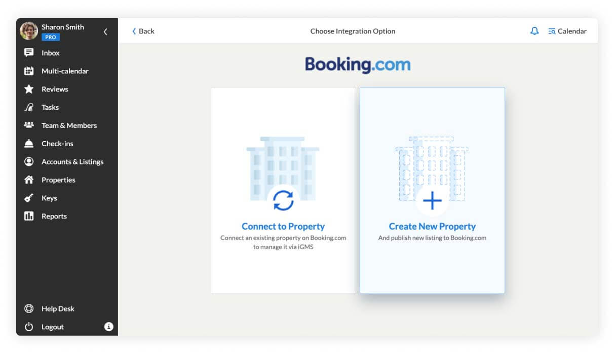 Booking.com account connection