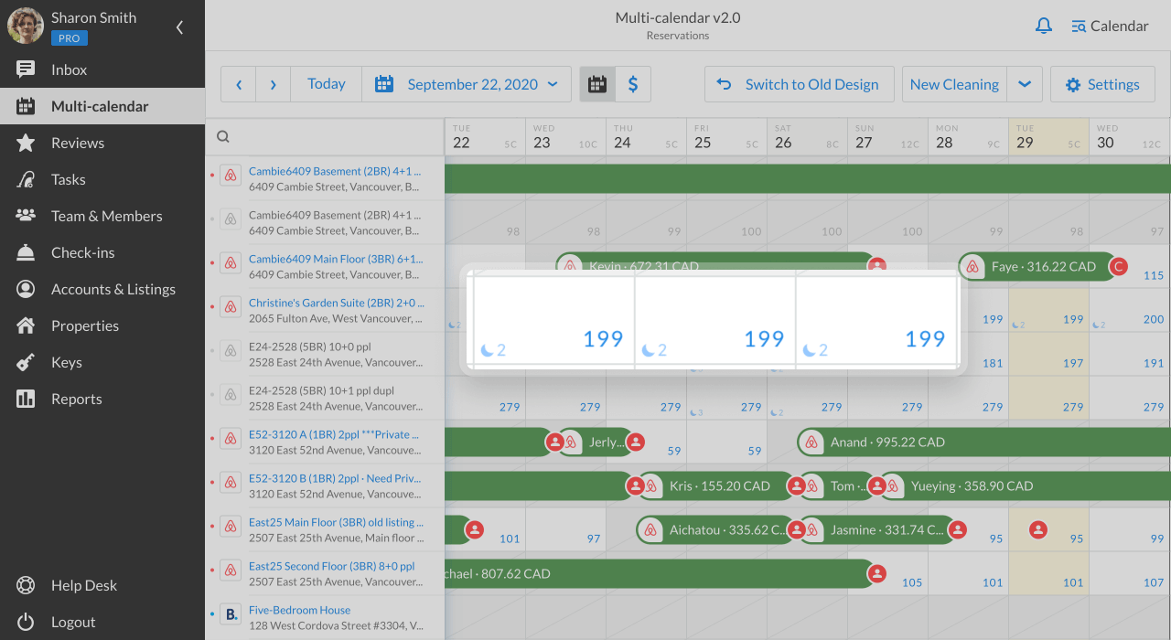 iGMS Multi-calendar date rates