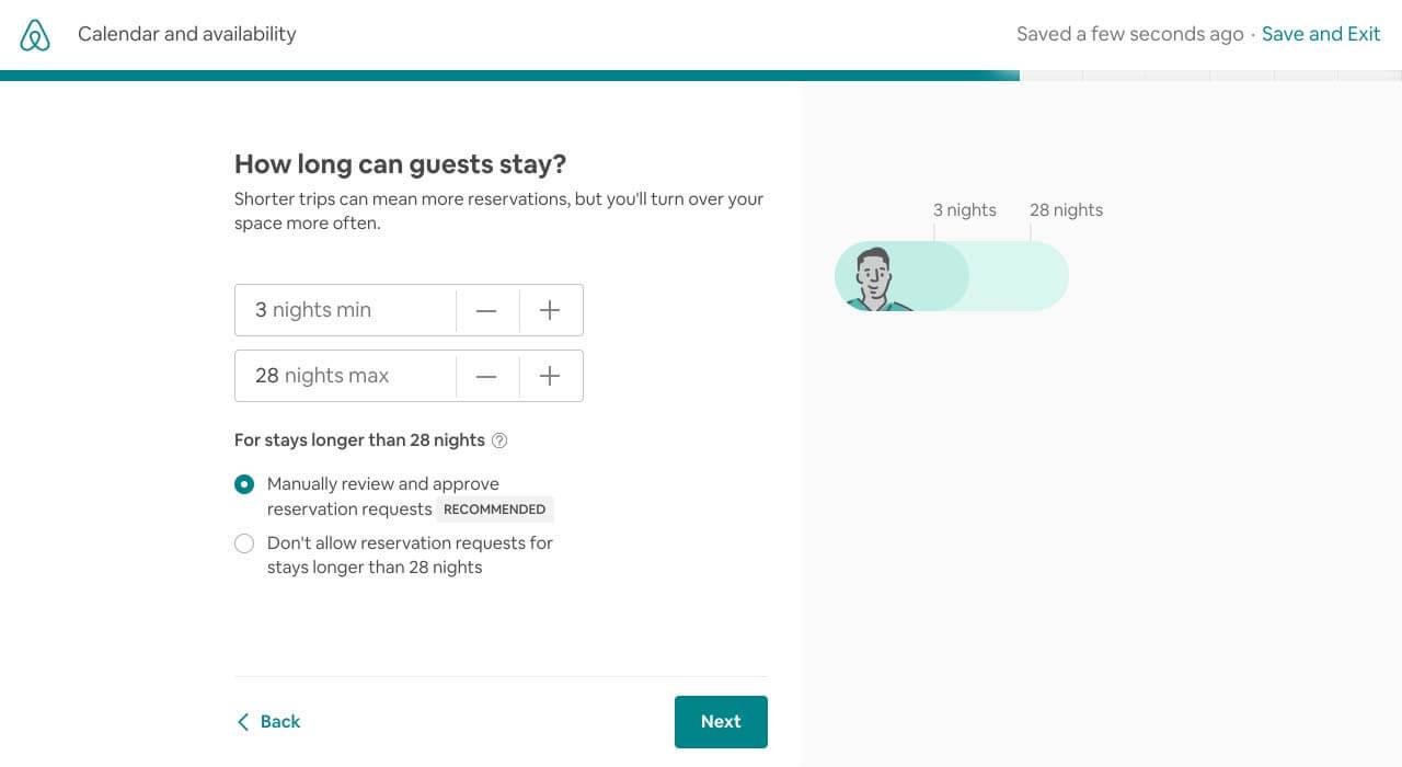 Airbnb listing minimum stay