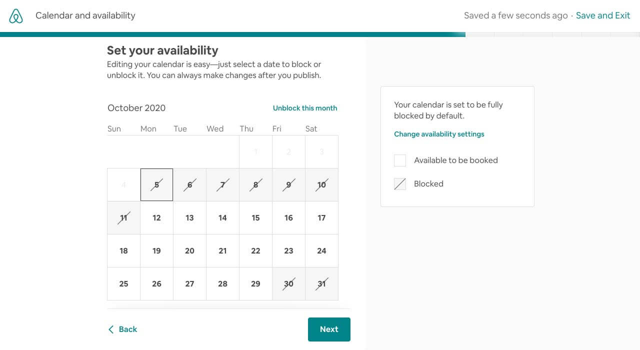 Airbnb listing availability