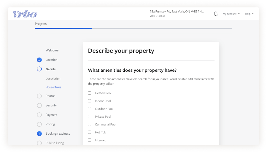 how to create a Vrbo listing