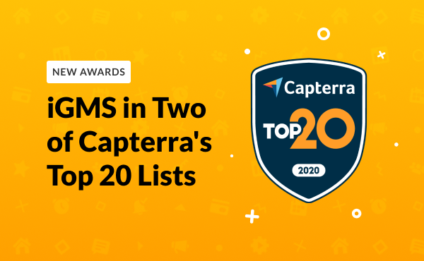 iGMS Included in Two of Capterra's Top 20 Lists