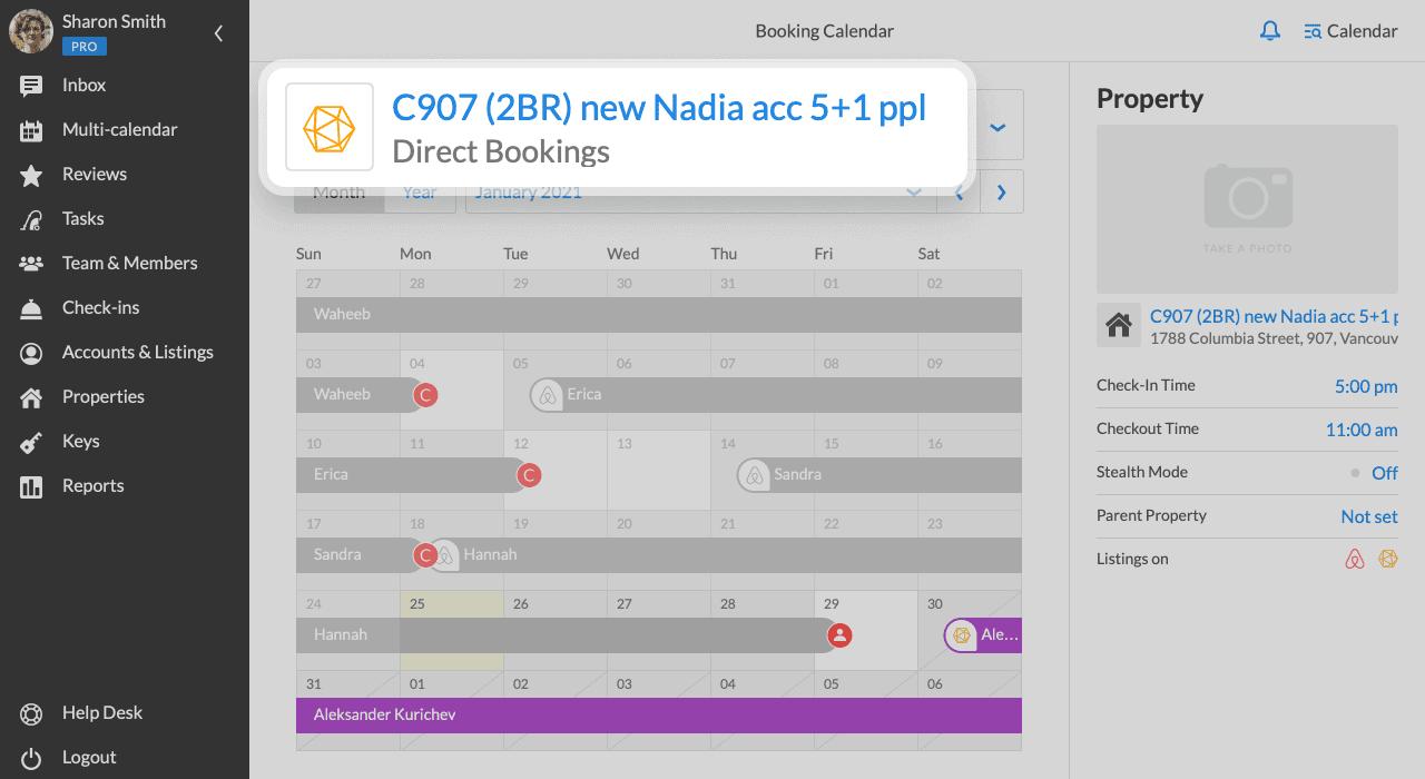 iGMS Direct Booking Calendar