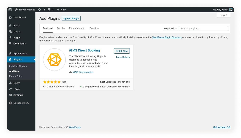 iGMS Direct Booking WordPress Plugin