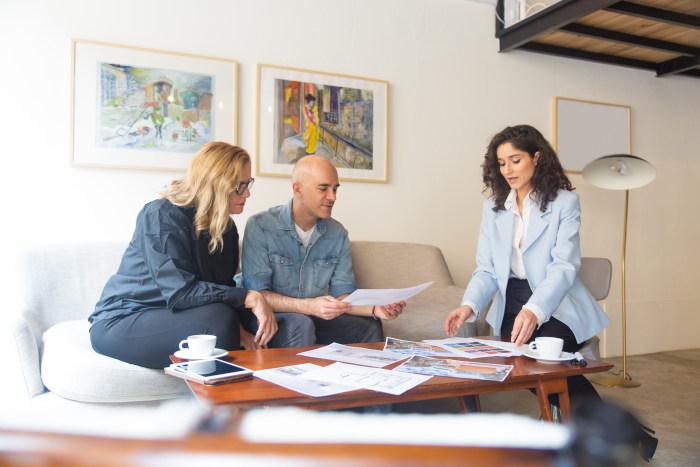 Airbnb interior design meeting with a designer