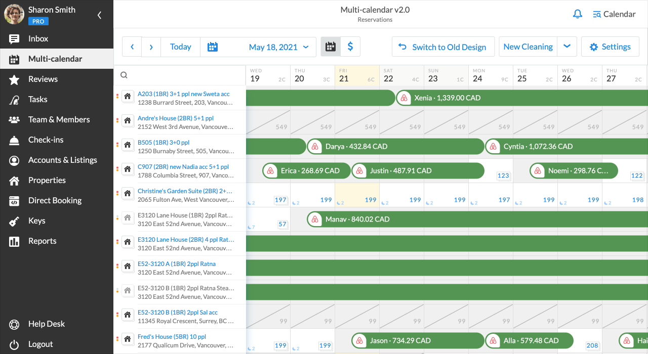 iGMS Multi-calendar