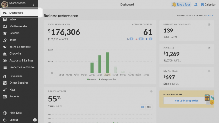 Airbnb metrics new dashboard