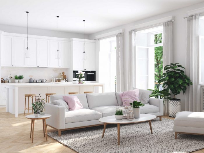 Modern living space - Airbnb key exchange assists the welcoming process